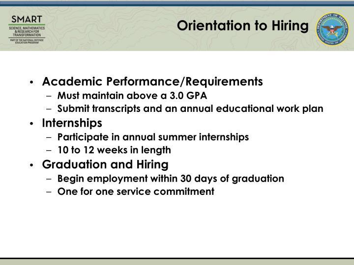 Orientation to Hiring