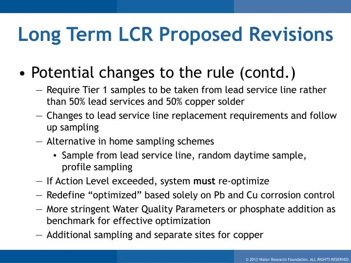 Long Term LCR Proposed Revisions