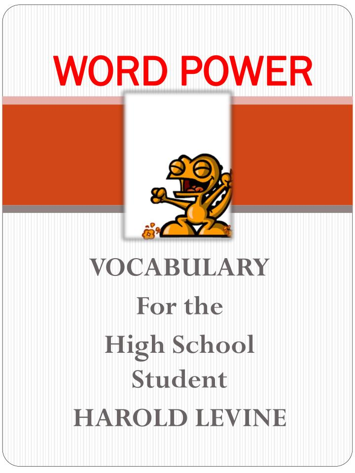 word power Education for upward mobility starts with building low-income students' vocabulary robert pondiscio.