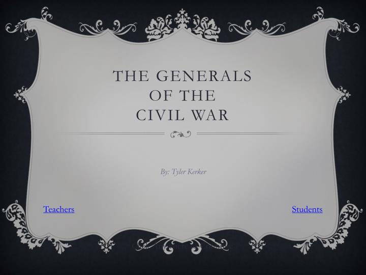 the generals of the civil war n.