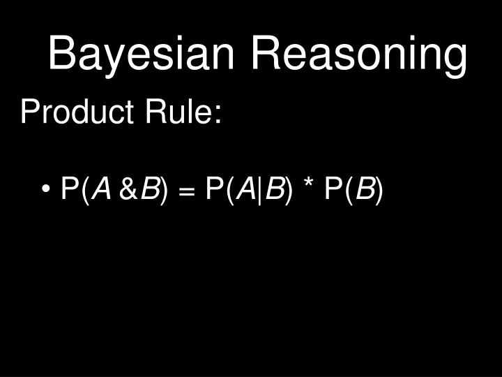 bayesian reasoning n.