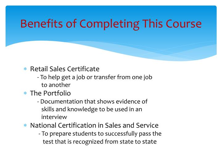 Benefits of Completing This Course