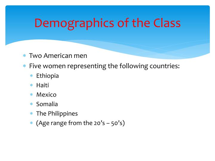 Demographics of the Class