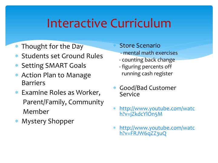 Interactive Curriculum