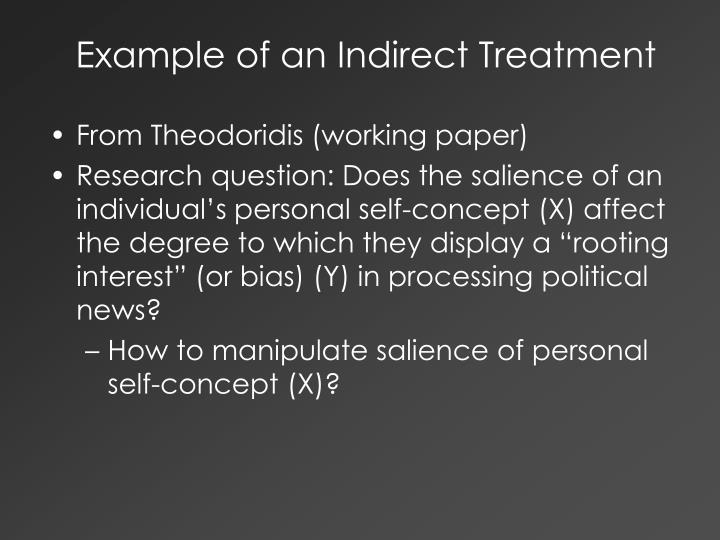 Example of an Indirect Treatment