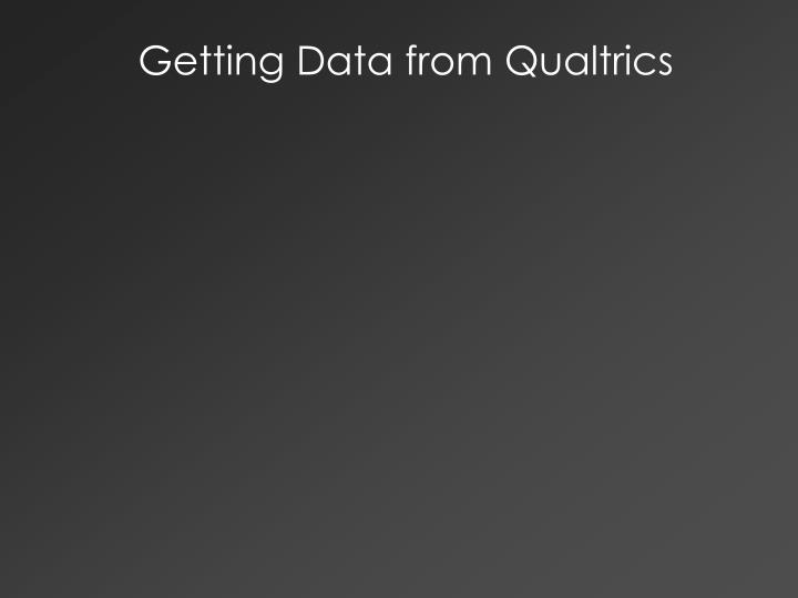 Getting Data from