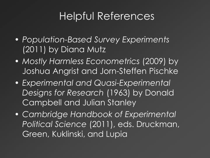 Helpful References