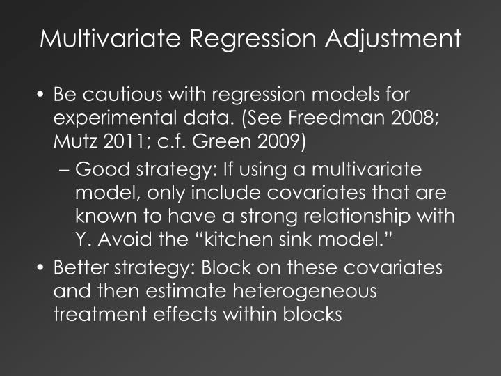 Multivariate Regression Adjustment
