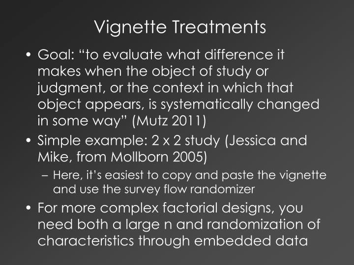 Vignette Treatments