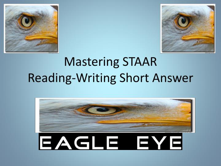 mastering staar reading writing short answer n.