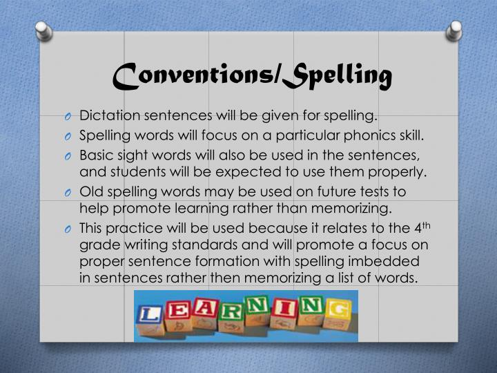 Conventions/Spelling