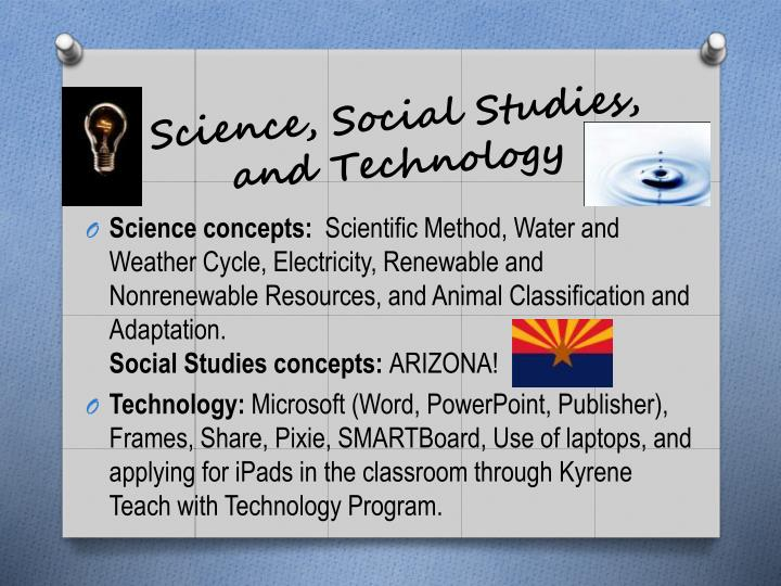 Science, Social Studies, and Technology