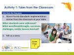 activity 1 tales from the classroom