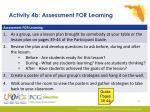 activity 4b assessment for learning