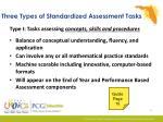 three types of standardized assessment tasks