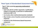three types of standardized assessment tasks1