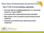 three types of standardized assessment tasks2