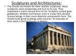 sculptures and architectures
