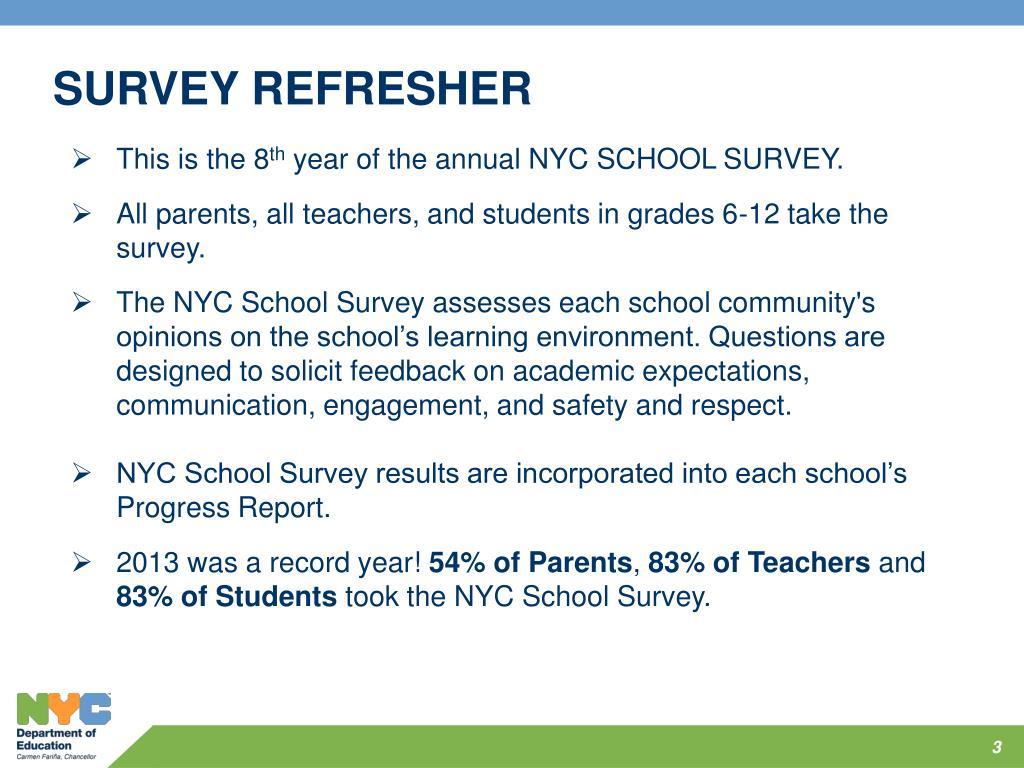 PPT - NYC SCHOOL SURVEY 2014 SCHOOL LEADER TRAINING
