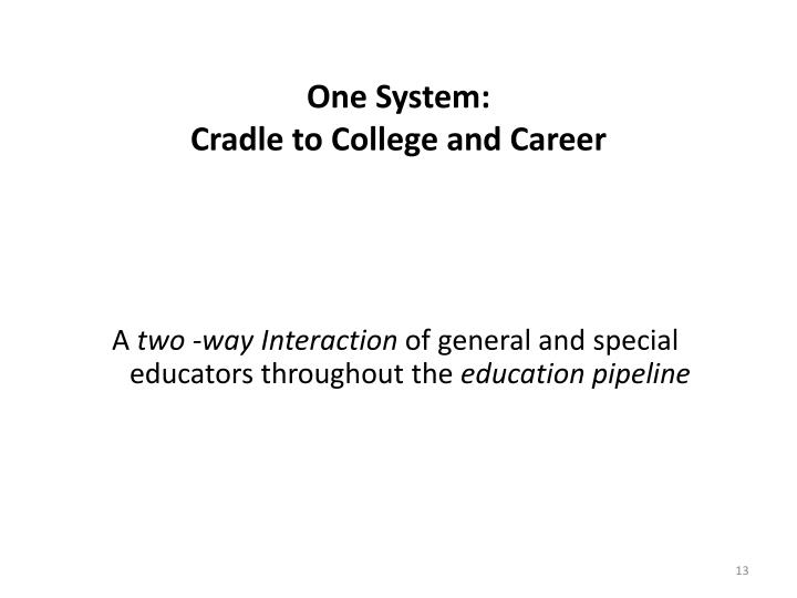 One System: