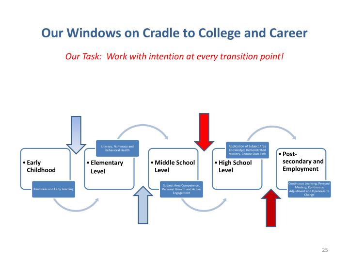 Our Windows on Cradle to College and Career