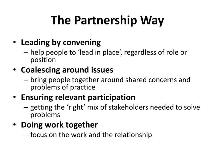 The Partnership Way