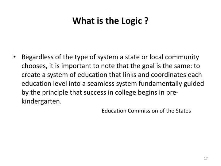 What is the Logic ?