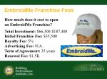 embroidme franchise fees
