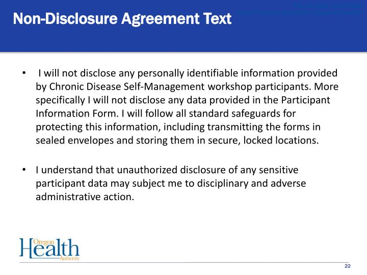 Non-Disclosure Agreement Text