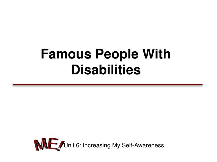 famous people with disabilities n.