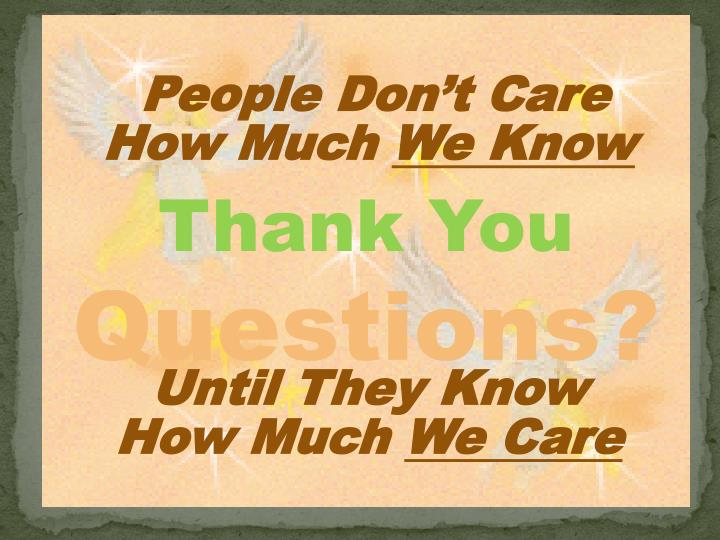 People Don't Care