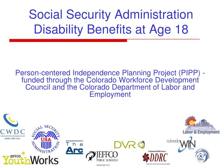 PPT - Social Security Administration Disability Benefits at
