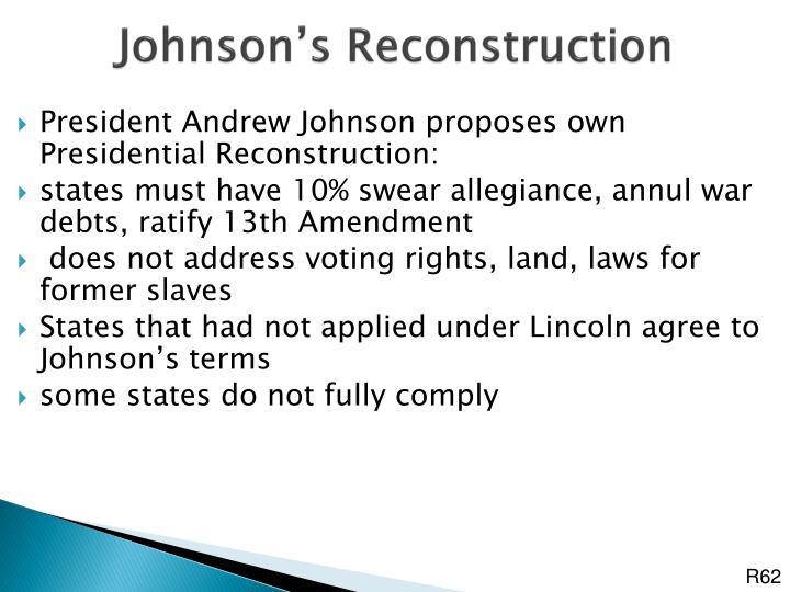 Johnson's Reconstruction