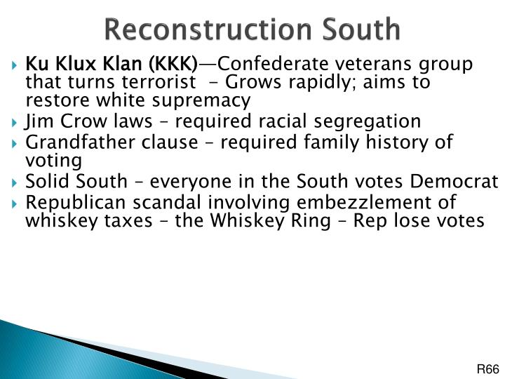 Reconstruction South