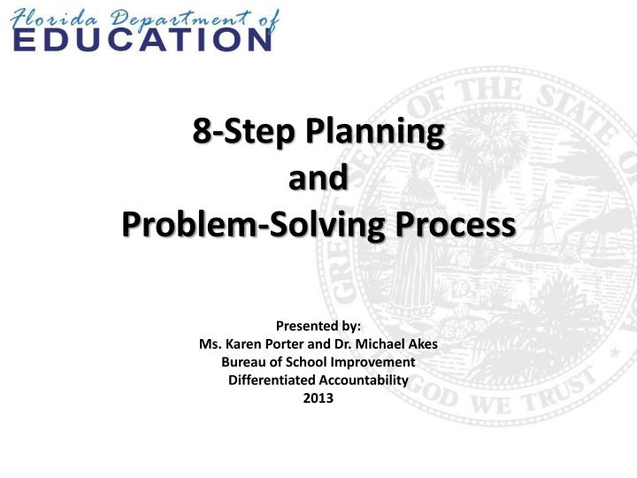 8 step planning and problem solving process n.