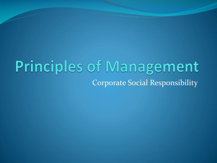 principle of management chapter 1 case