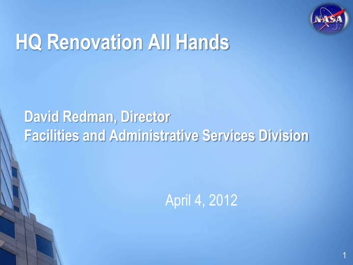 david redman director facilities and administrative services division n.