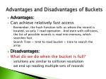 advantages and disadvantages of buckets