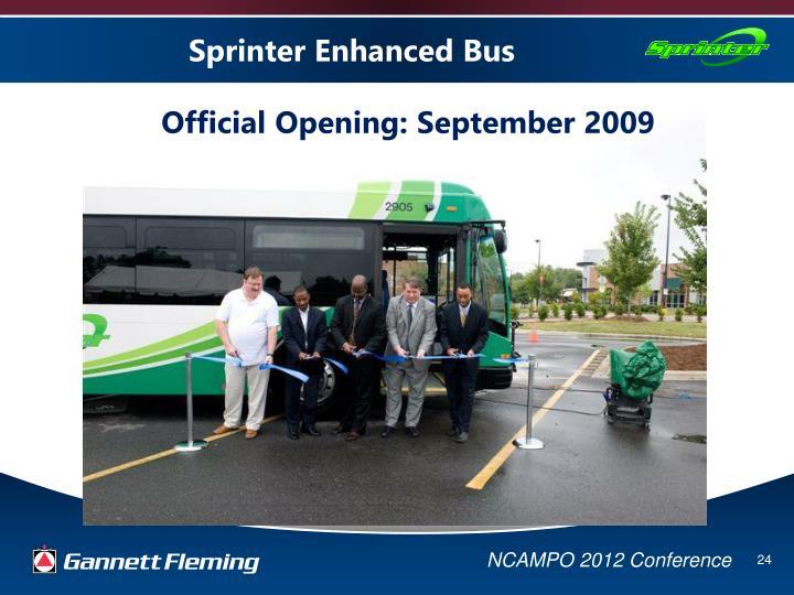 Sprinter Enhanced Bus