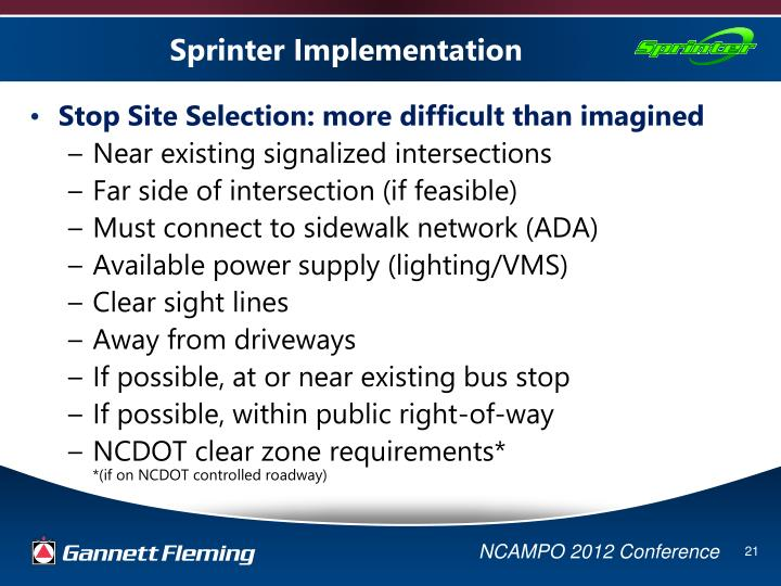 Sprinter Implementation