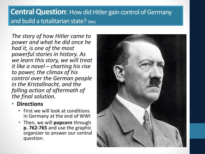 to what extent did hitler create a totalitarian state