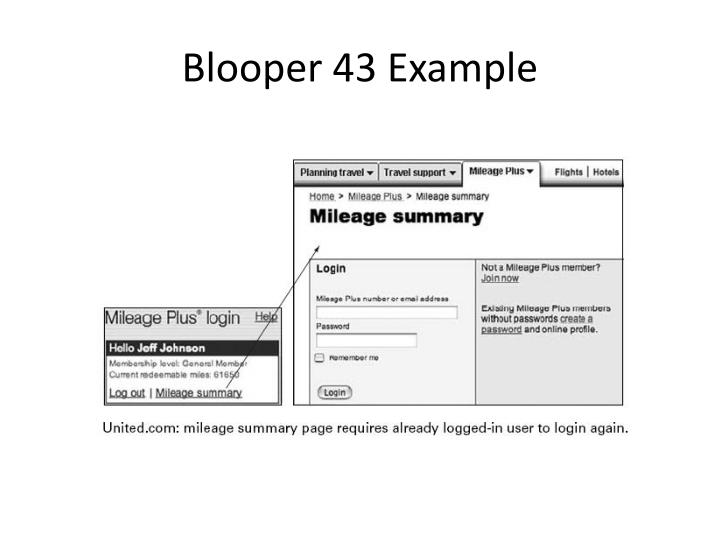 Blooper 43 Example