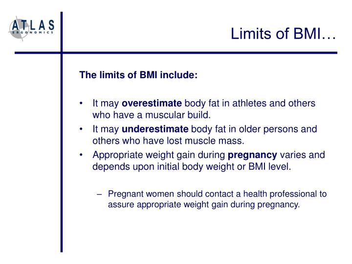 Limits of BMI…