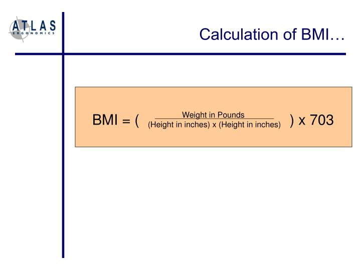 Calculation of BMI…