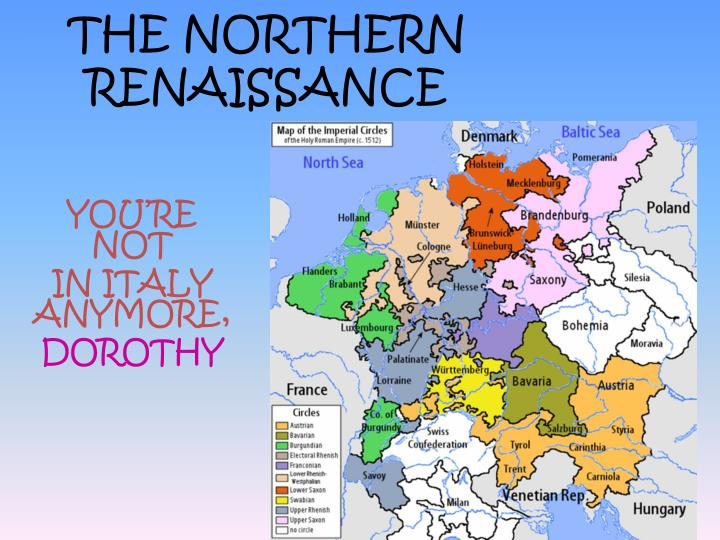 the main differences between the italian renaissance and the northern europe renaissance The primary differences between northern renaissance art and italian renaissance art were the emphasis placed on religion and anatomical extent to such ideals were embraced and backed by wealthy italian patrons who were eager to support the causes in contrast, the rest of europe was still.