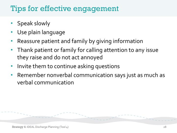 Tips for effective engagement