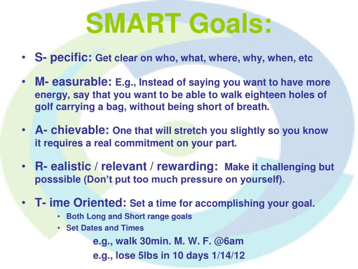 SMART Goals: