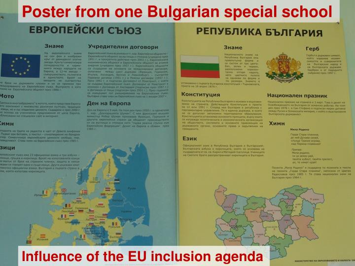 Poster from one Bulgarian special school