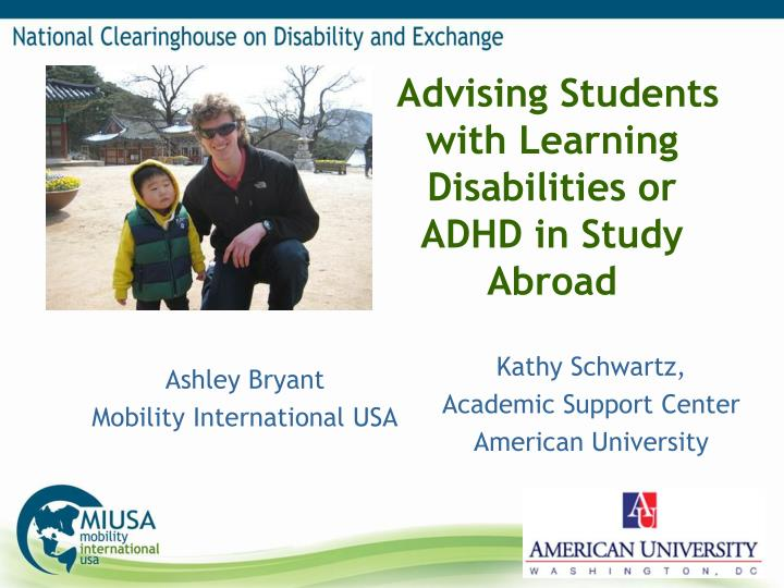 advising students with learning disabilities or adhd in study abroad n.
