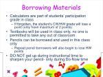 borrowing materials